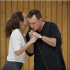 Lydia Leonard and Toby Stephens in Oslo rehearsals. Photo by Brinkhoff & Mogenberg