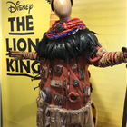 Rafiki costume from The Lion King displayed at the Disney in the West End Summer Pop-up