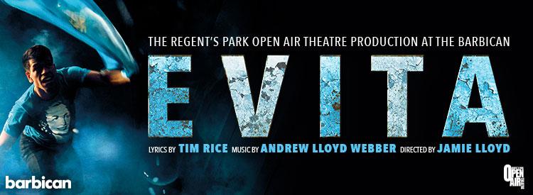 Evita at the Barbican Theatre London