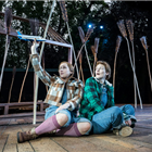 Elizabeth Karani and Heather Lowe in Hansel and Gretel at the Regents Park Open Air Theatre - Photo credit Johan Persson