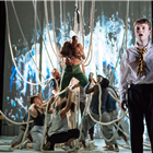 The cast of A Monster Calls at the Old Vic Theatre, London. Photo credit: Manuel Harlan
