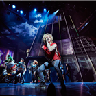 Andrew Polec as Strat and the company of Bat Out Of Hell - The Musical. Credit: Specular.