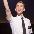 Nic Roleau (Elder Price) in The Book Of Mormon at London's Prince Of Wales Theatre