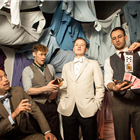 M. Lambourne, S. Hunt, M. Krupski and J. Lawrence in The Great Gatsby at Gatsby's Drugstore, London.